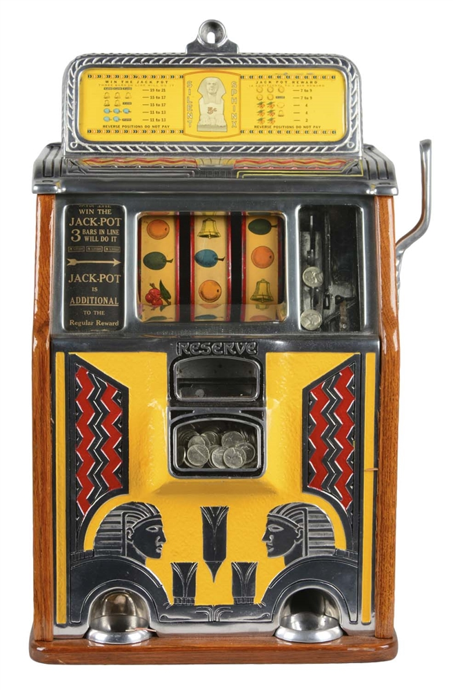 **5¢ Caille Silent Sphinx Slot Machine
