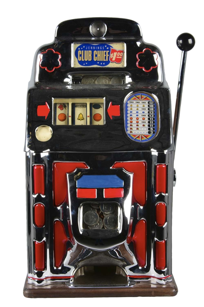 **$1 Jennings Club Chief Super Deluxe Slot Machine