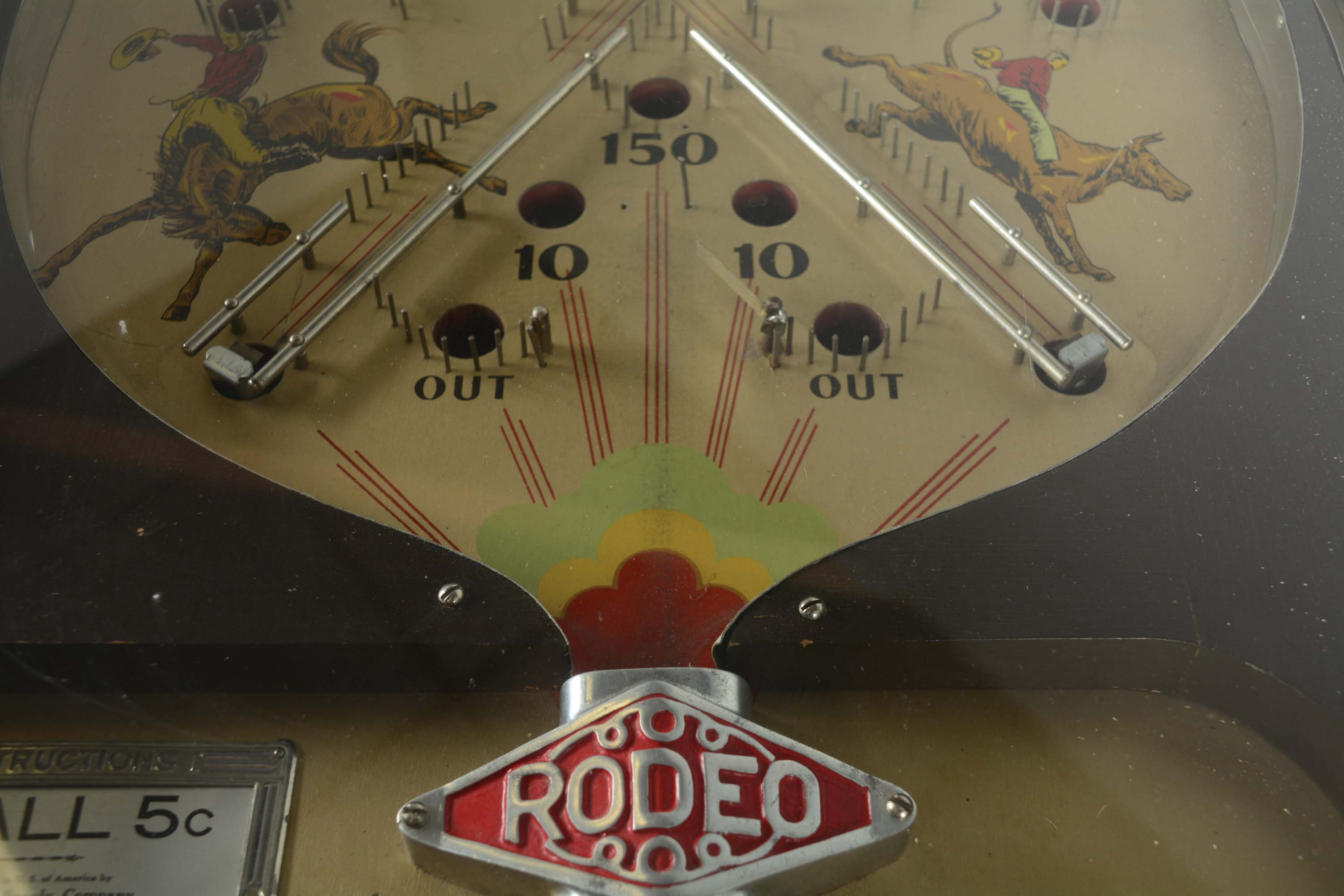 Lot Detail 5 162 Exhibit Supply Co Rodeo Pinball Game
