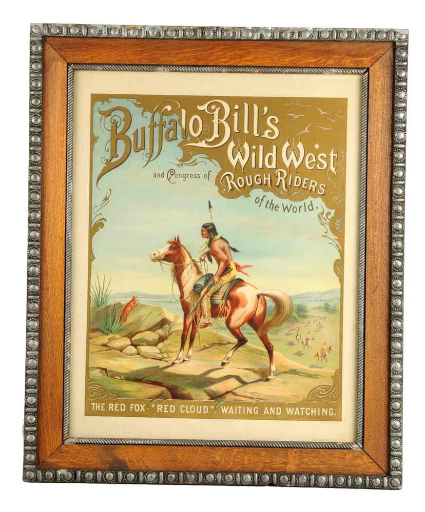 Buffalo Bills Wild West Red Cloud Advertising Poster.