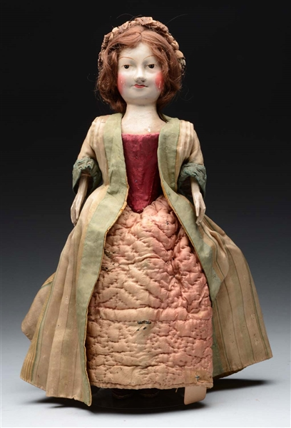 RARE WILLIAM & MARY WOODEN DOLL.