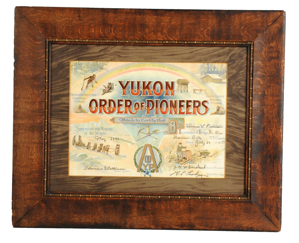 Yukon Order Of Pioneers Lodge Poster.