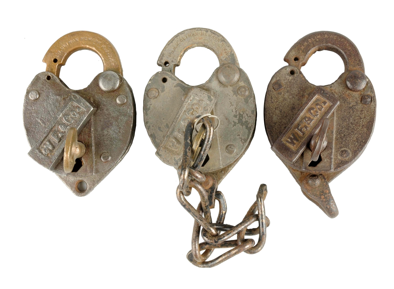 Lot Of 3: Wells Fargo Padlocks.