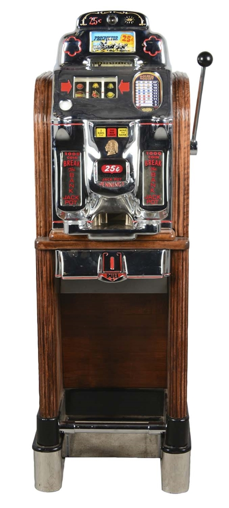 **25¢ Jennings Prospector Console Bell Slot Machine