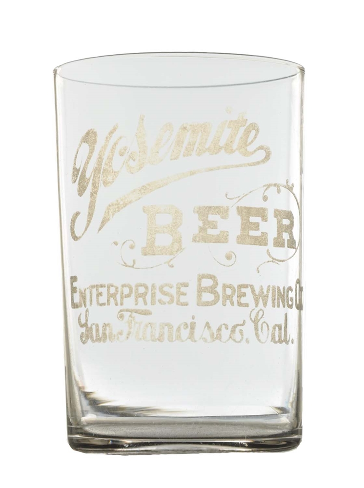 Etched Yosemite Brewing Beer Glass