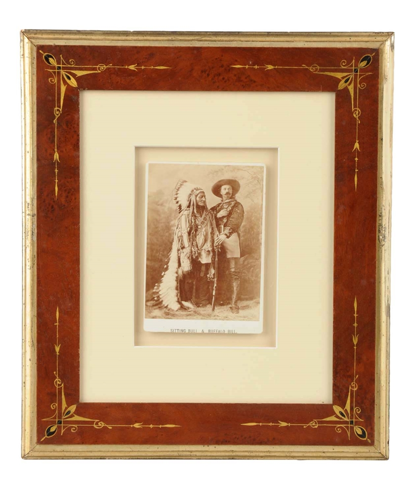 Sitting Bull & Buffalo Bill Cabinet Card Photograph.