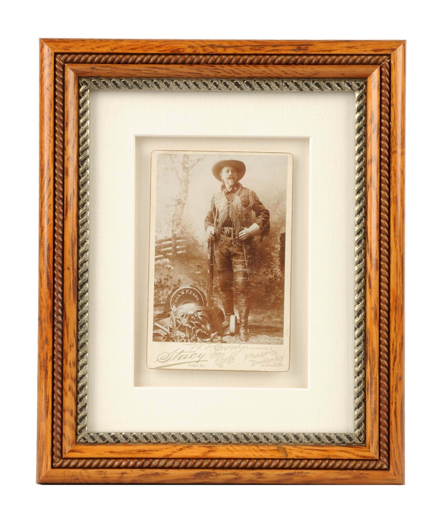 Late 1800s Buffalo Bill Signed Cabinet Card Photograph.