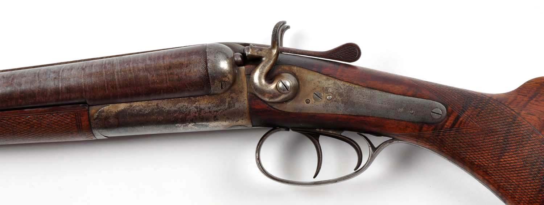 Lot detail a double barrel hammer shotgun by union