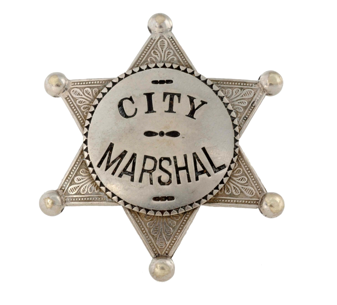 City Marshal Six-Point Star Badge.