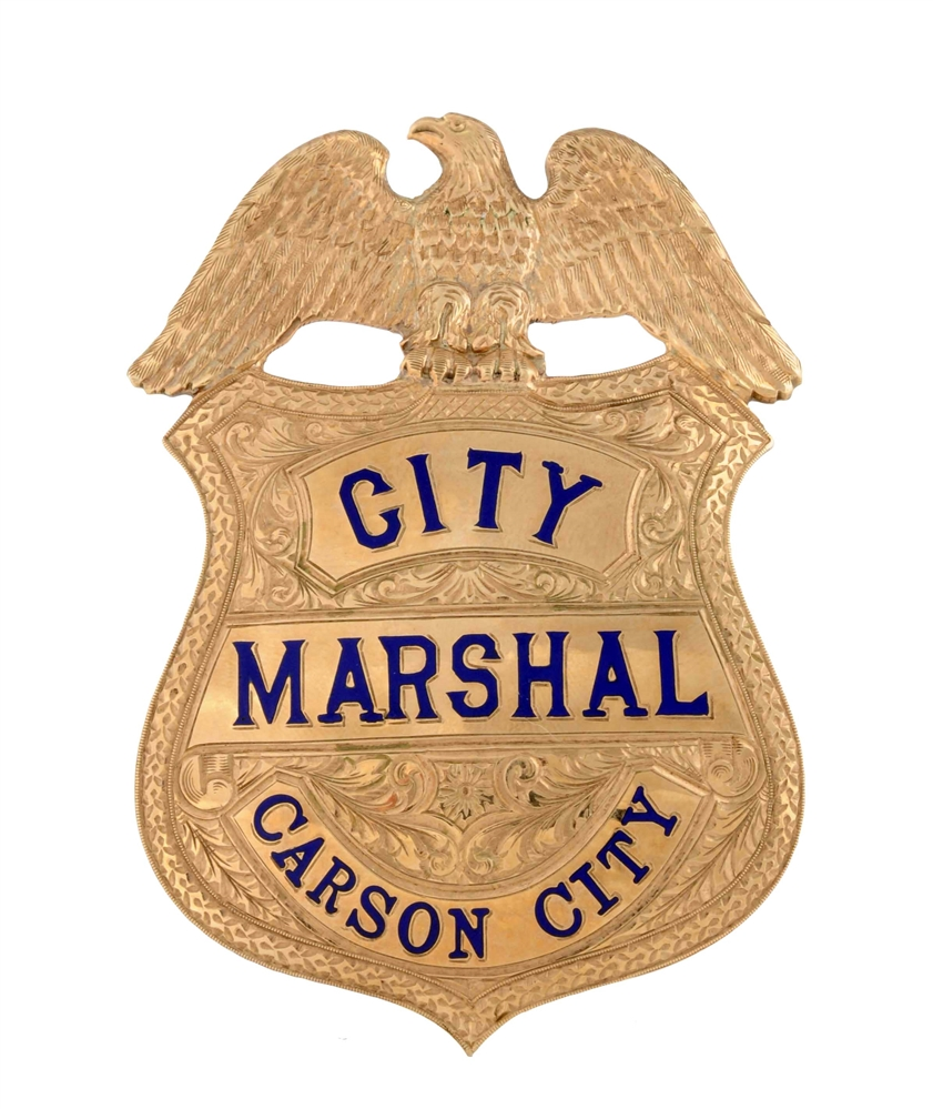 Gold & Enameled Marshals Badge.
