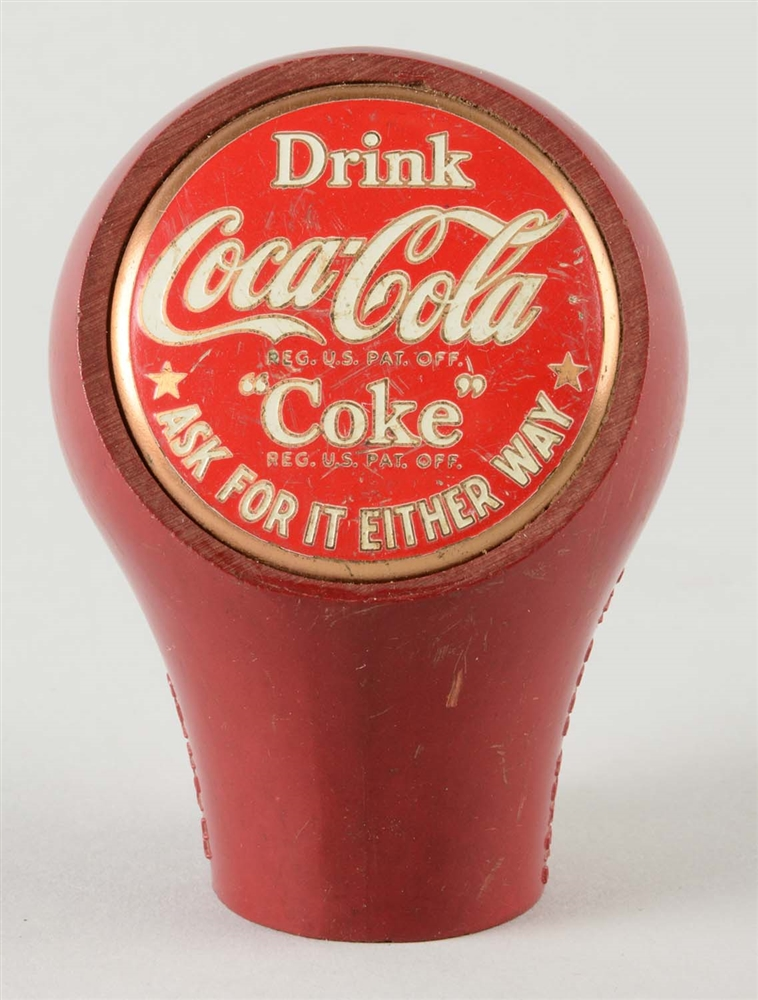 COCA - COLA RED HEAD KNOB.