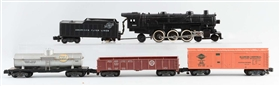 LOT OF 5: AMERICAN FLYER NO. 283 & FREIGHT CARS.