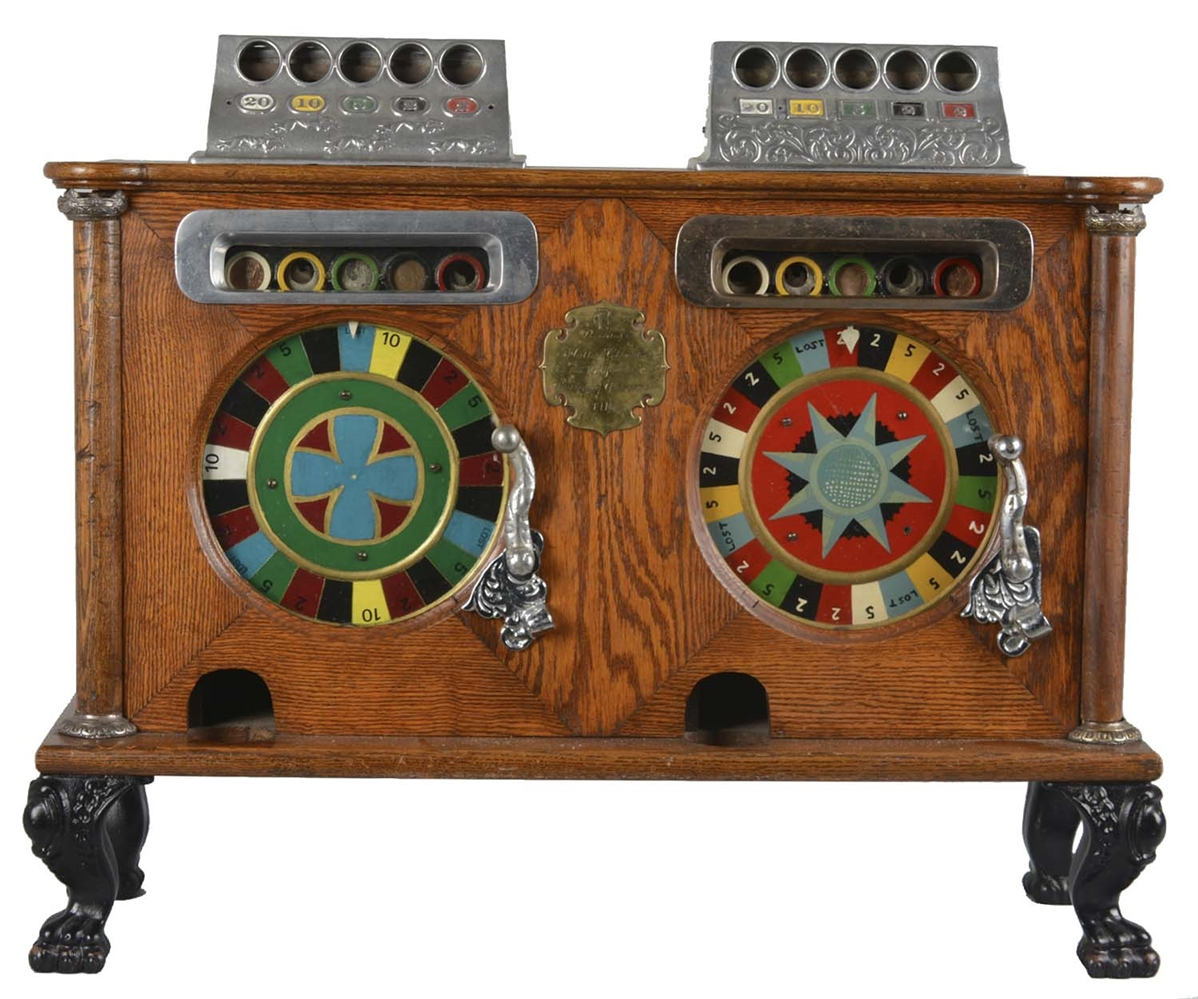 **English Caille Double Counter Wheel Slot Machine