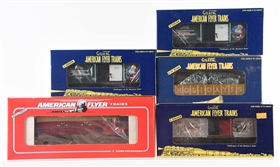 LOT OF 5: AMERICAN FLYER HOLIDAY TRAINS.