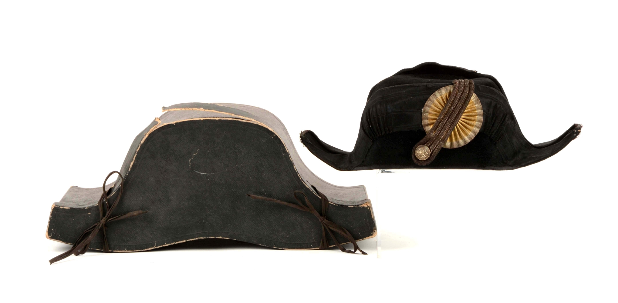 Italian Bicorn Hat In Original Carrying Case.
