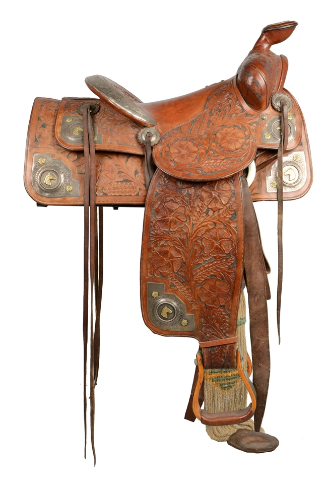 Keyston Bros. Western Saddle And Stand.