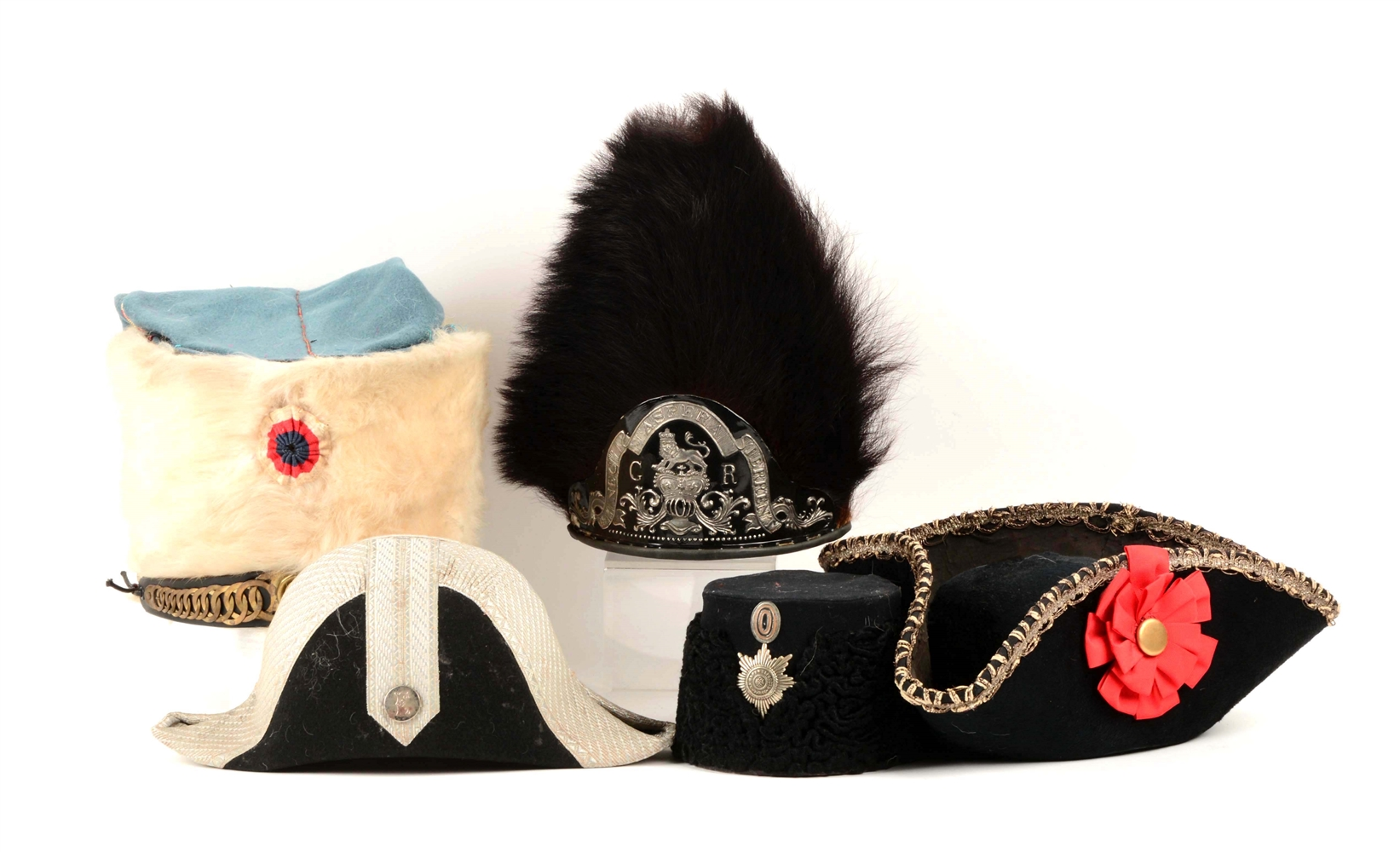 Lot Of 5: Reproduction Military Hats.