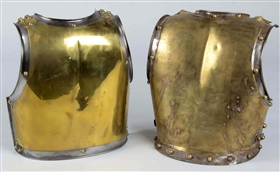 Lot of 2: Cuirass Back Plates.