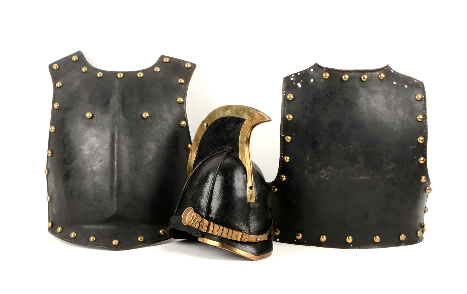 Russian 19th c. cuirass and reproduction helment