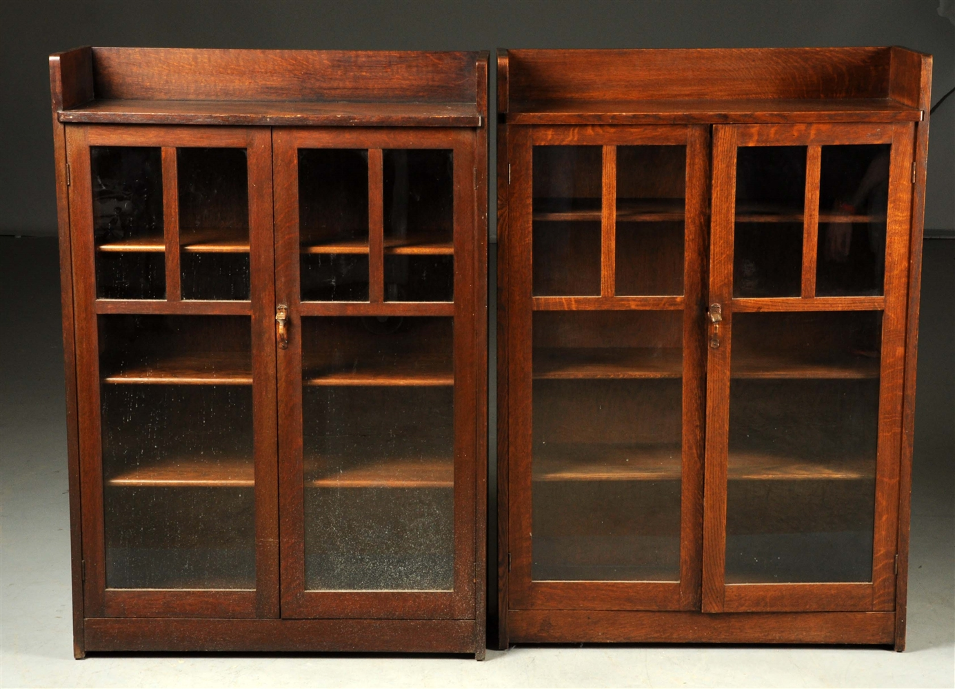 Pair of Limbert Arts & Crafts Two Door Bookcases No. 340.