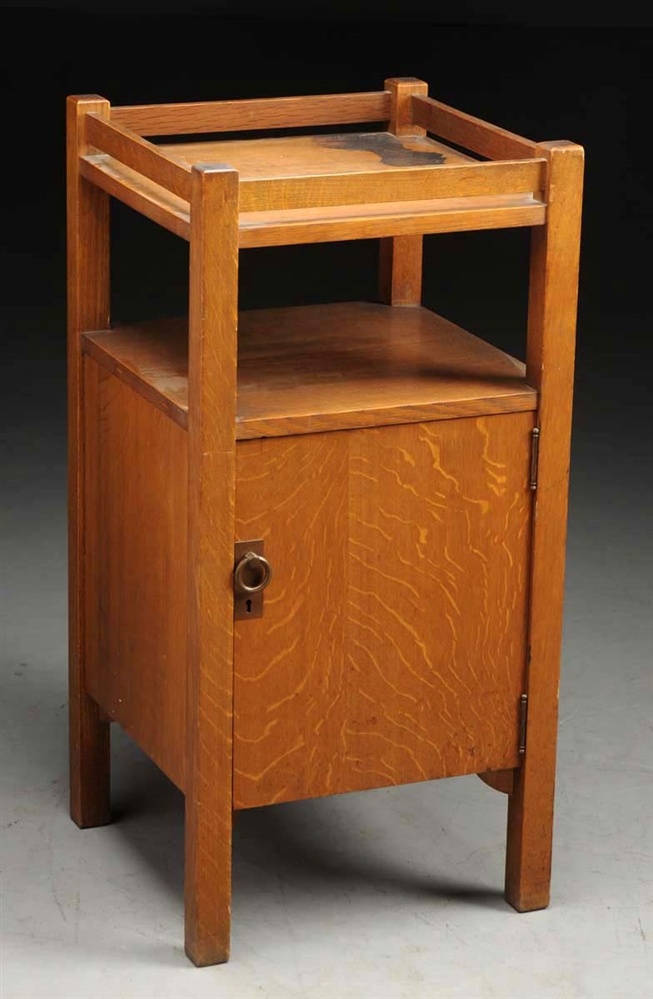 Stickley Bros. Smokers Cabinet No. 2624.