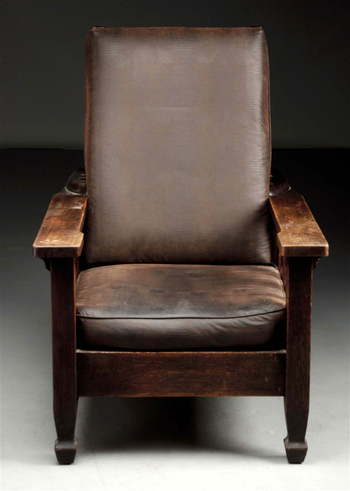 Massive Early Arts & Crafts Morris Chair w/ Macmurdo Feet.