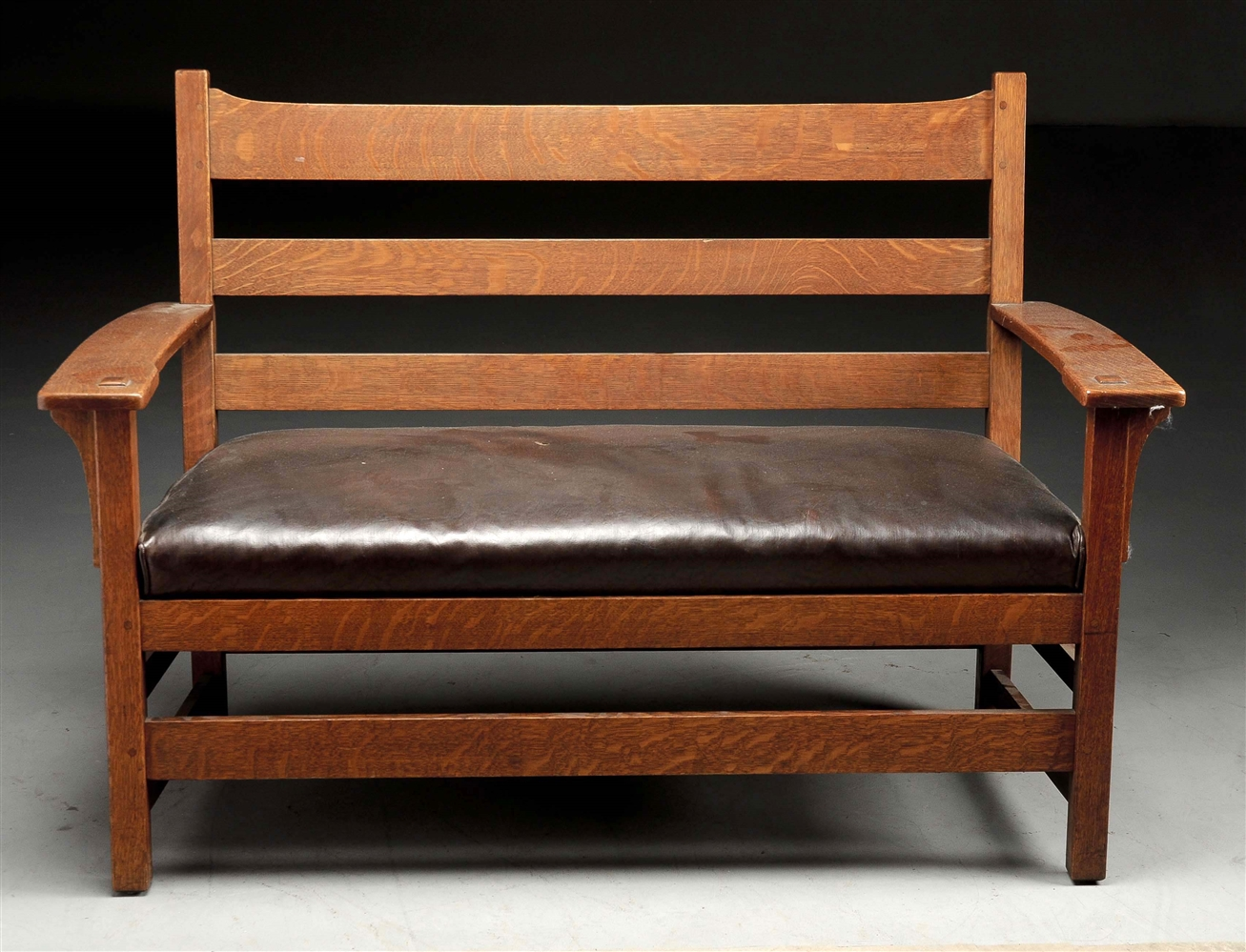 L & JG Stickley Hall Bench.