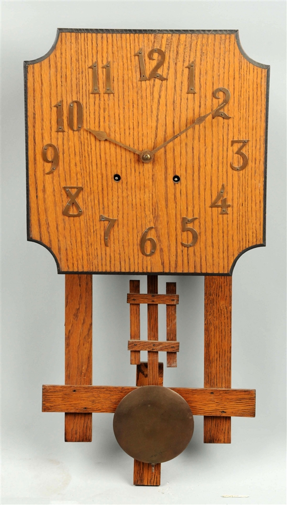 Mission Style Oak Wall Clock.