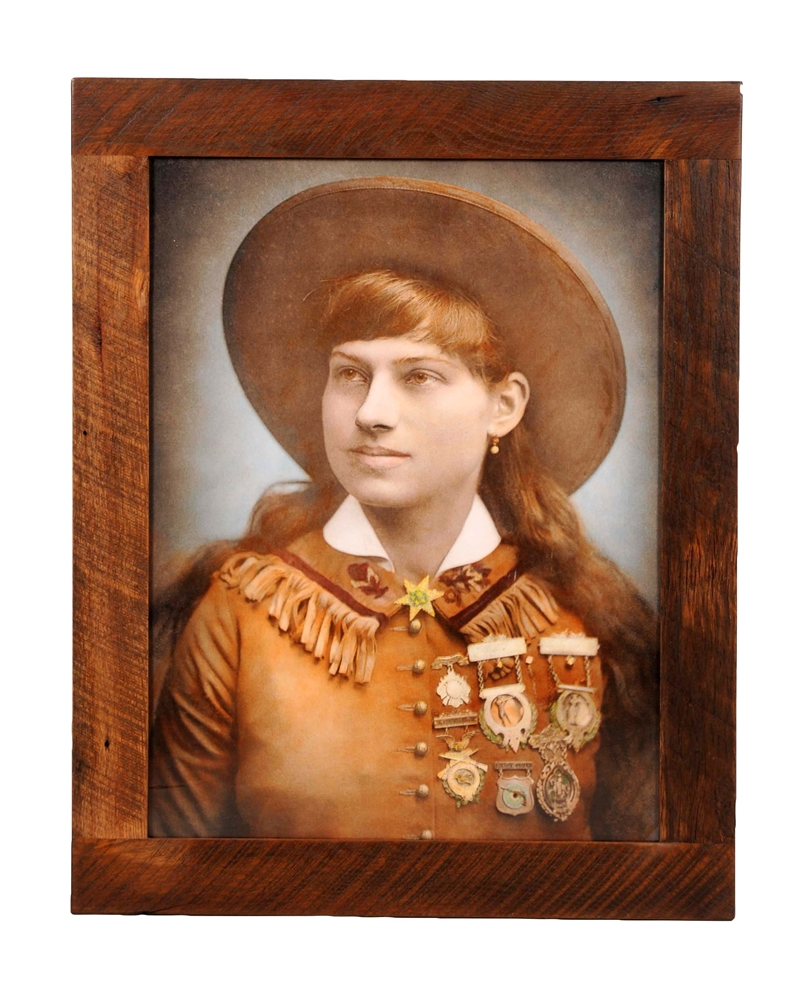 Framed Annie Oakley Color Photograph.