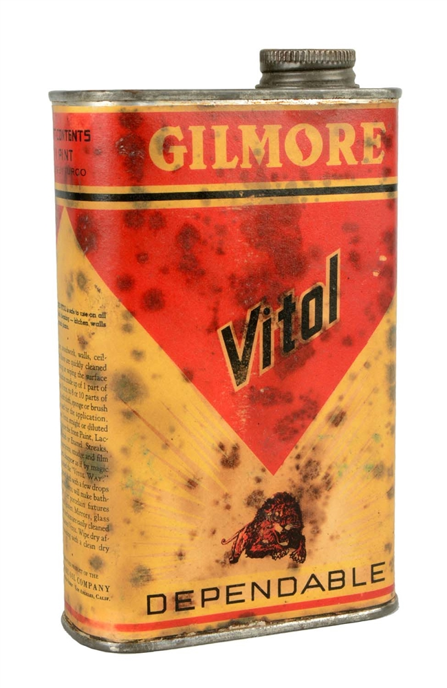 Rare Gilmore Vital Dependable Household Cleaner Can.