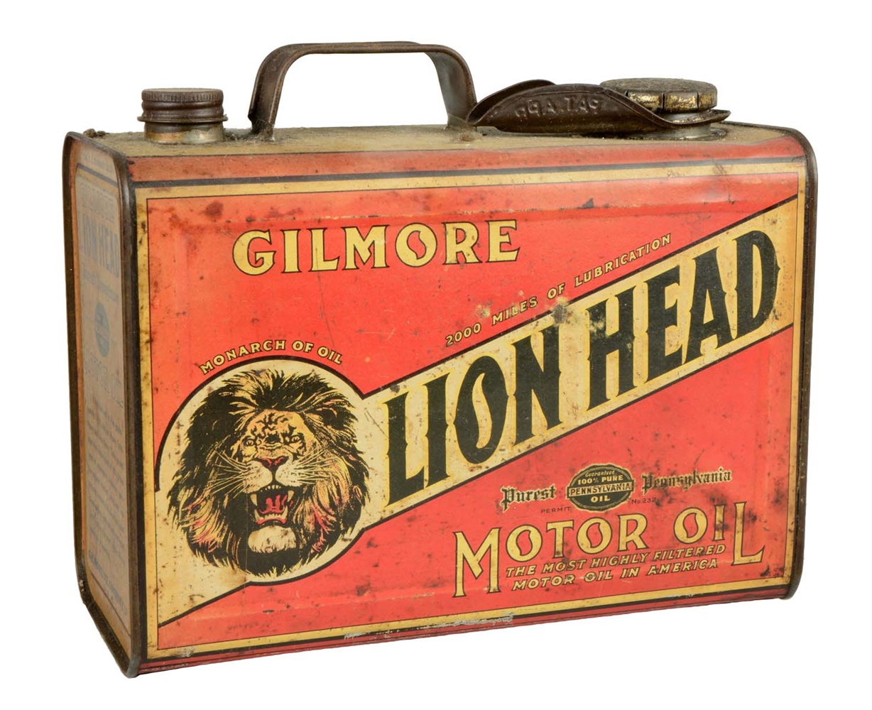 Gilmore Lion Head One Gallon Can.