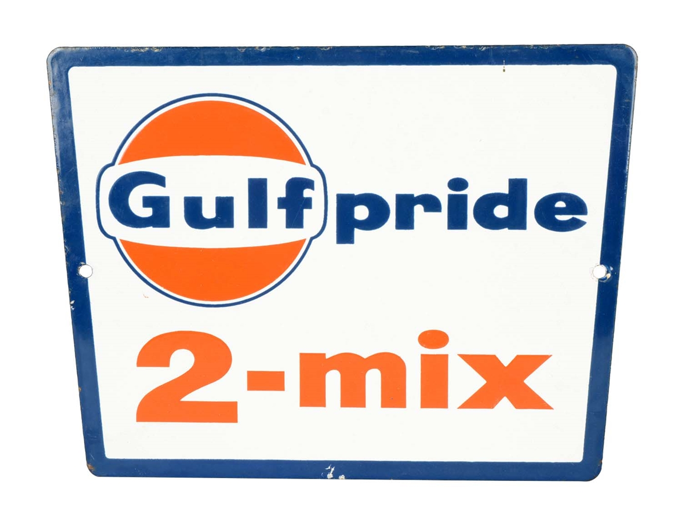 Gulfpride 2-Mix Porcelain Sign.