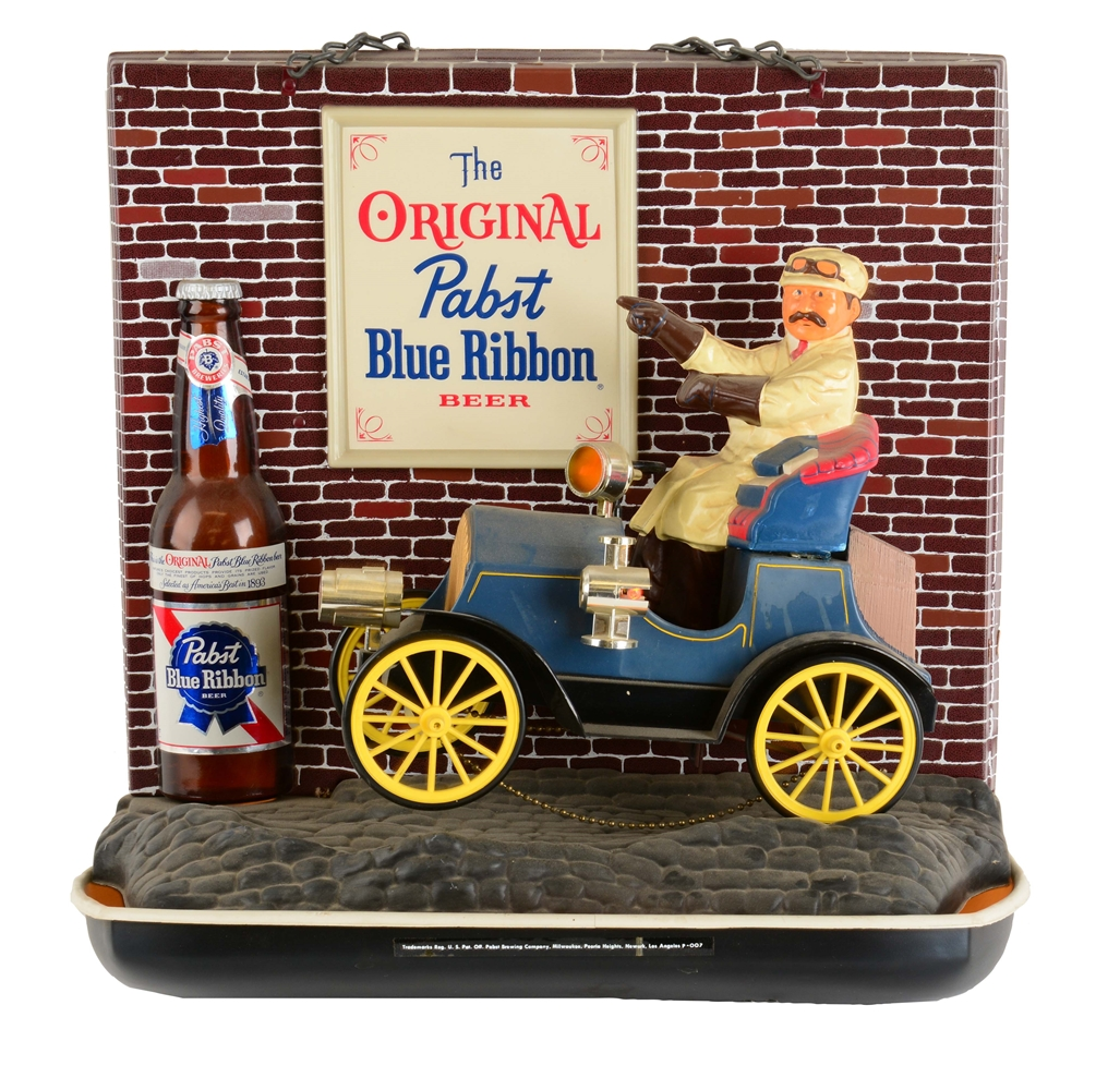 Pabst Blue Ribbon Beer Mechanical Light Up Sign.