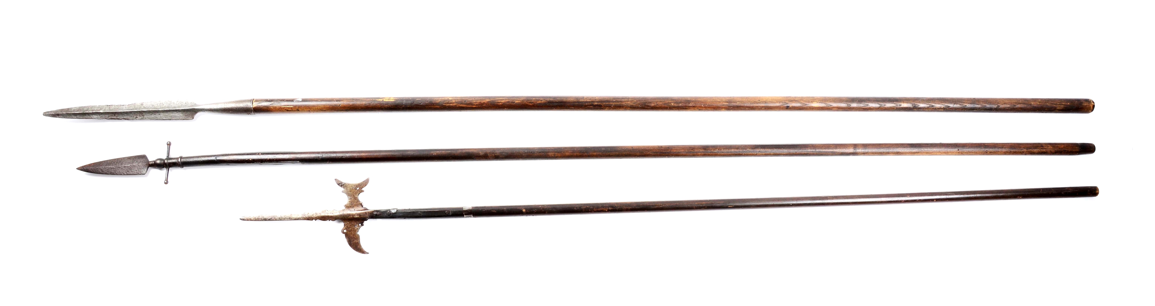 Lot Of 3: 18th Century Polearms.