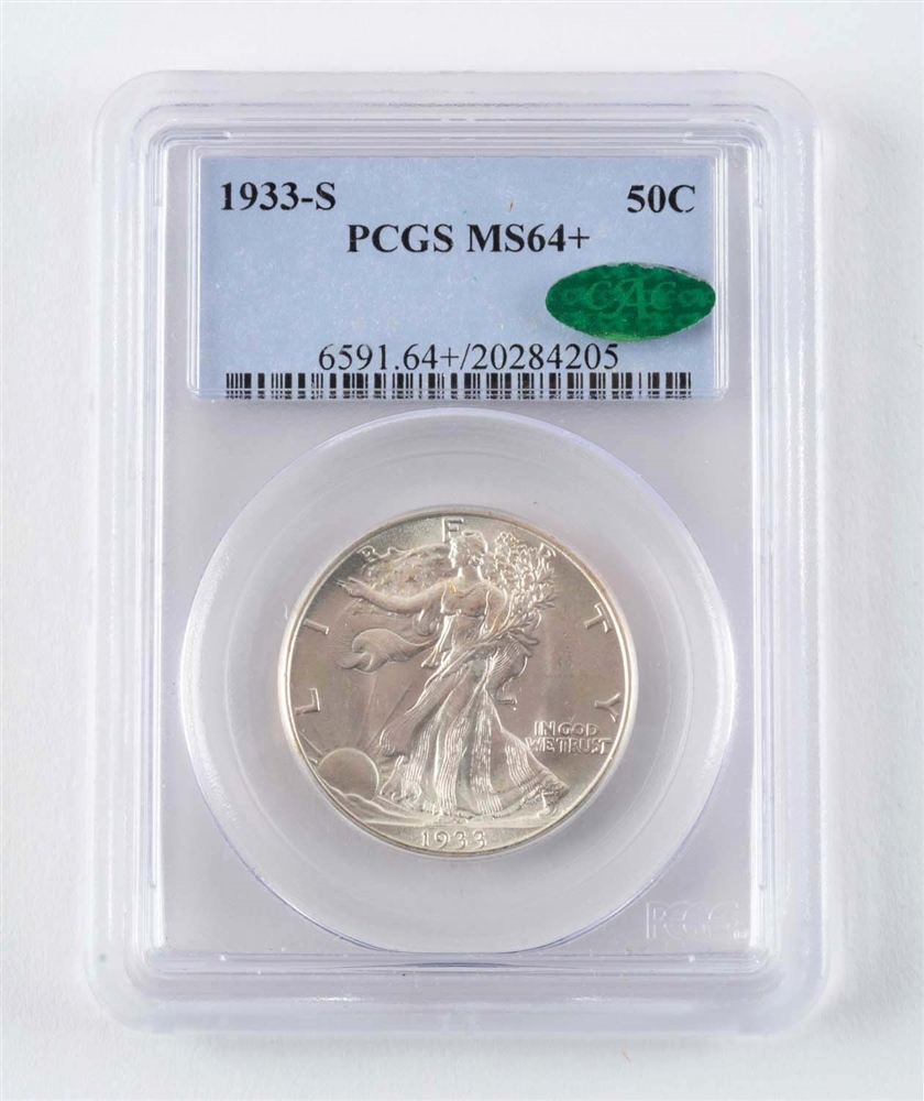 1933 S Walking Liberty Half Dollar.