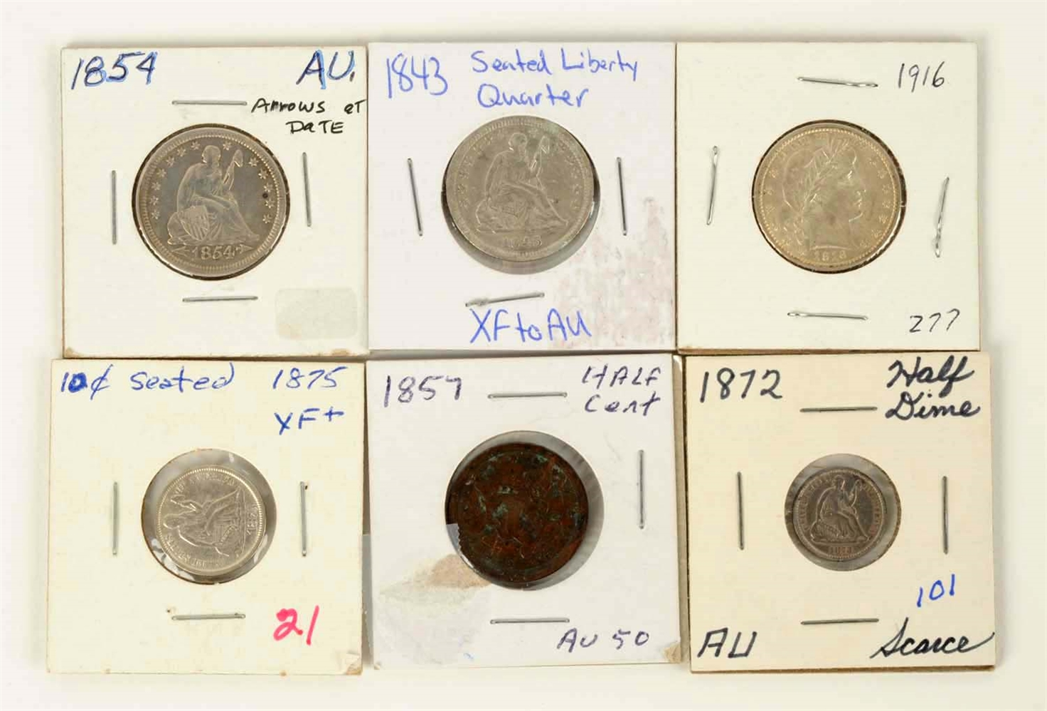 Lot Of 6: US Type Coins.