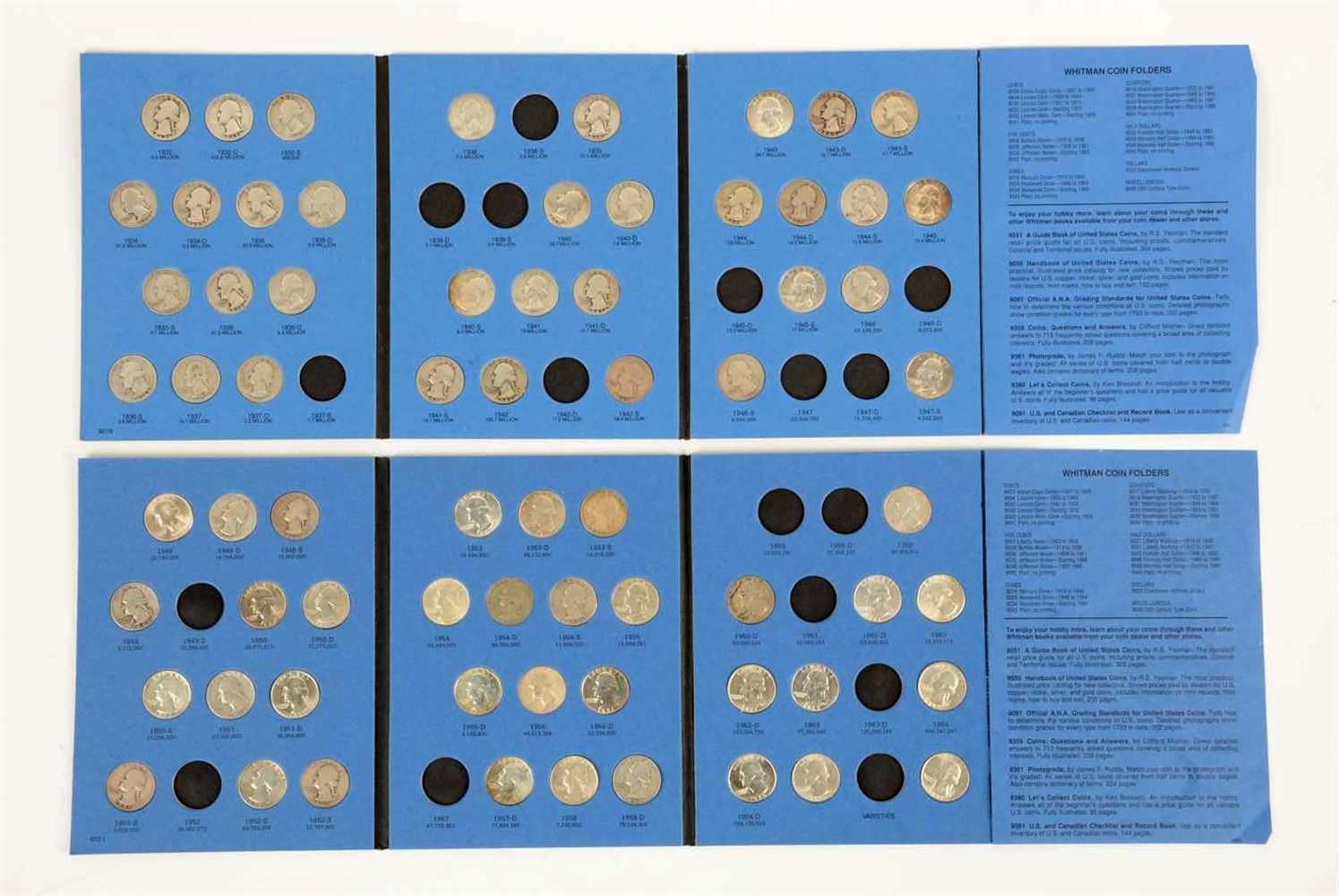 Lot Of 5: Books of Washington Quarters.
