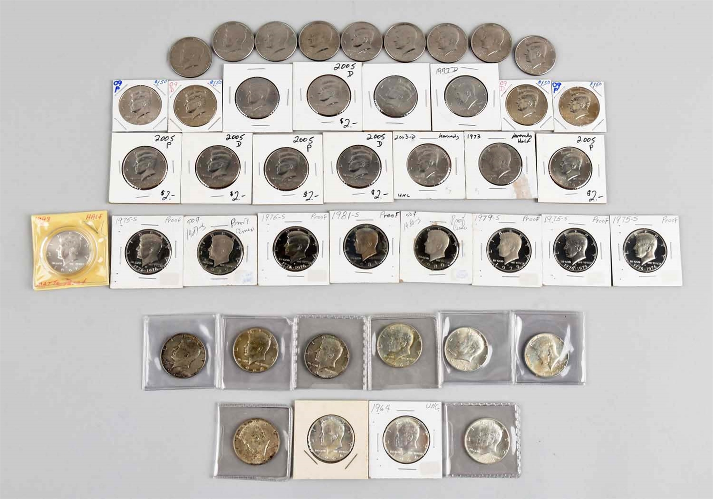 Large Lot Of Assorted Kennedy Half Dollars.