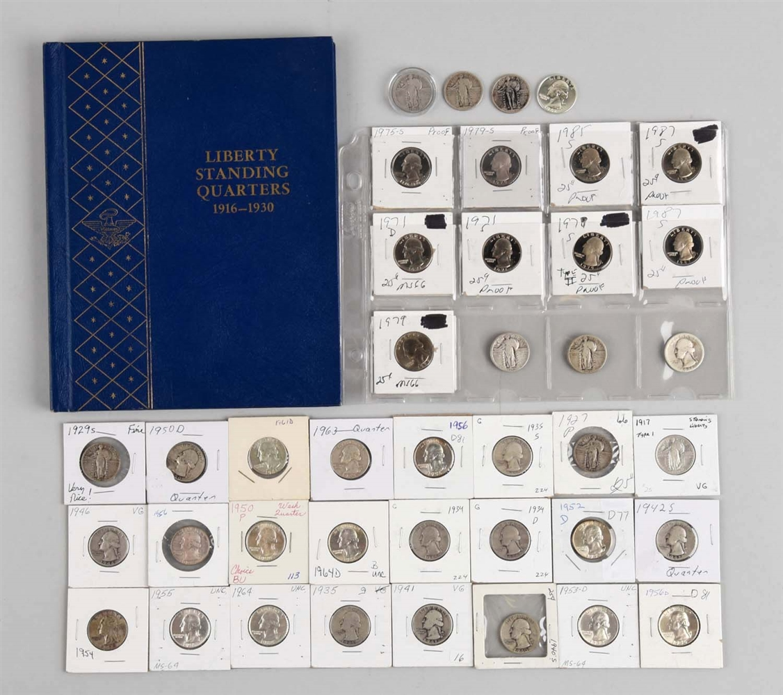 Large Lot Of Quarters.