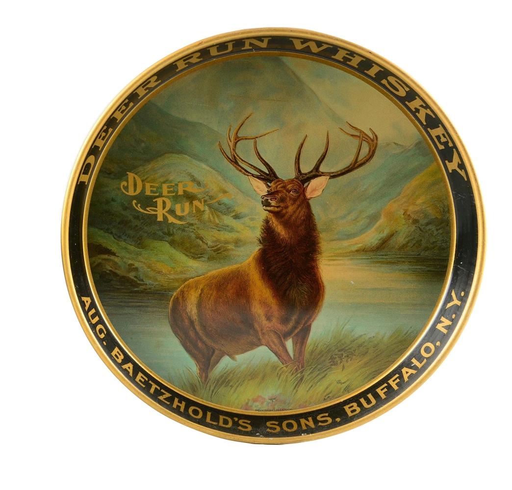 Deer Run Whiskey Serving Tray.