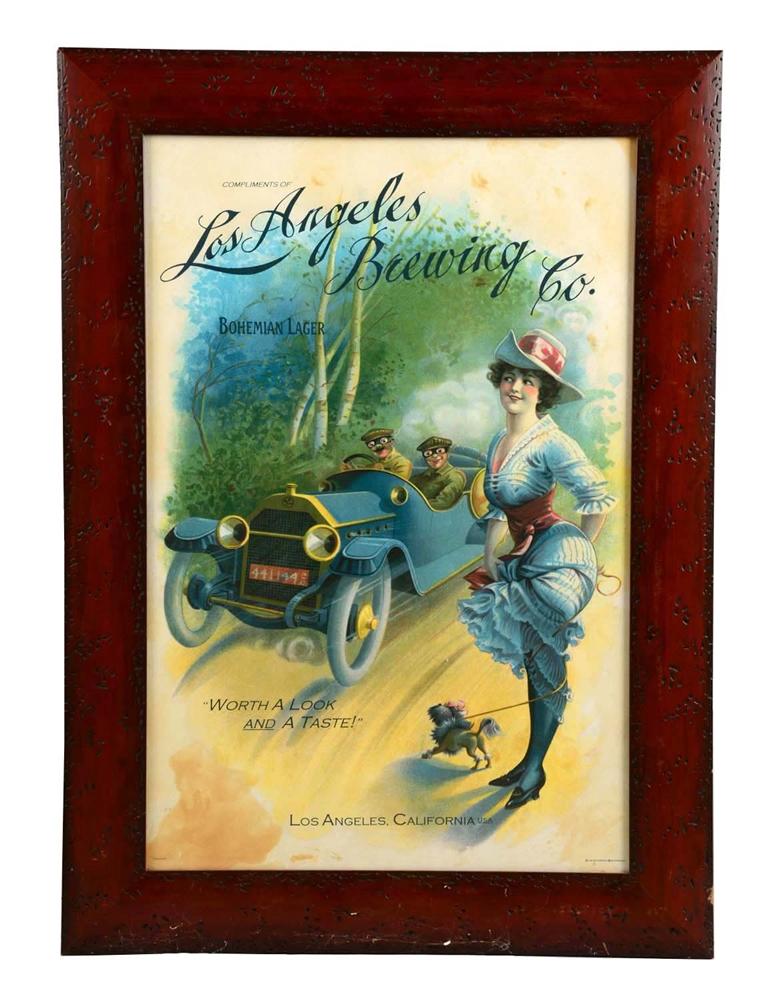 Los Angeles Brewing Co. Advertising Poster.