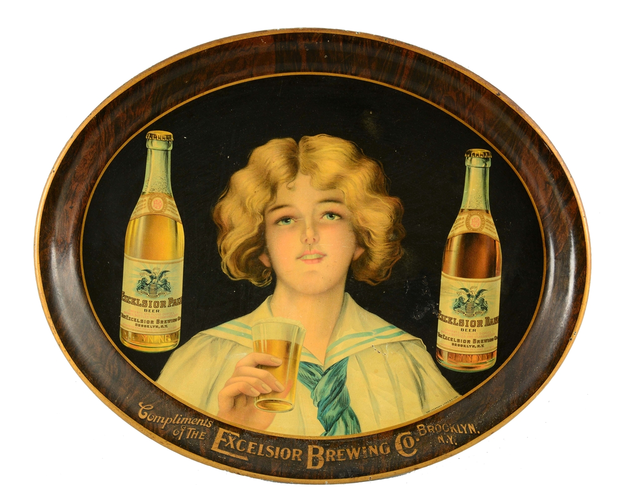 Excelsior Brewing Co. Serving Tray.