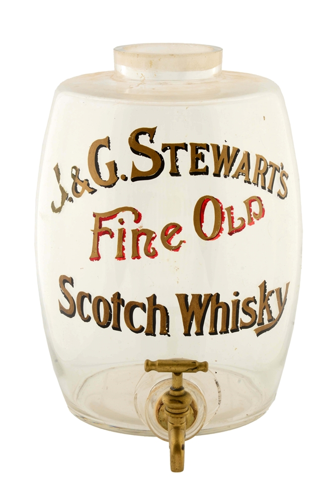 J&G Stewarts Scotch Whiskey Glass Dispenser.