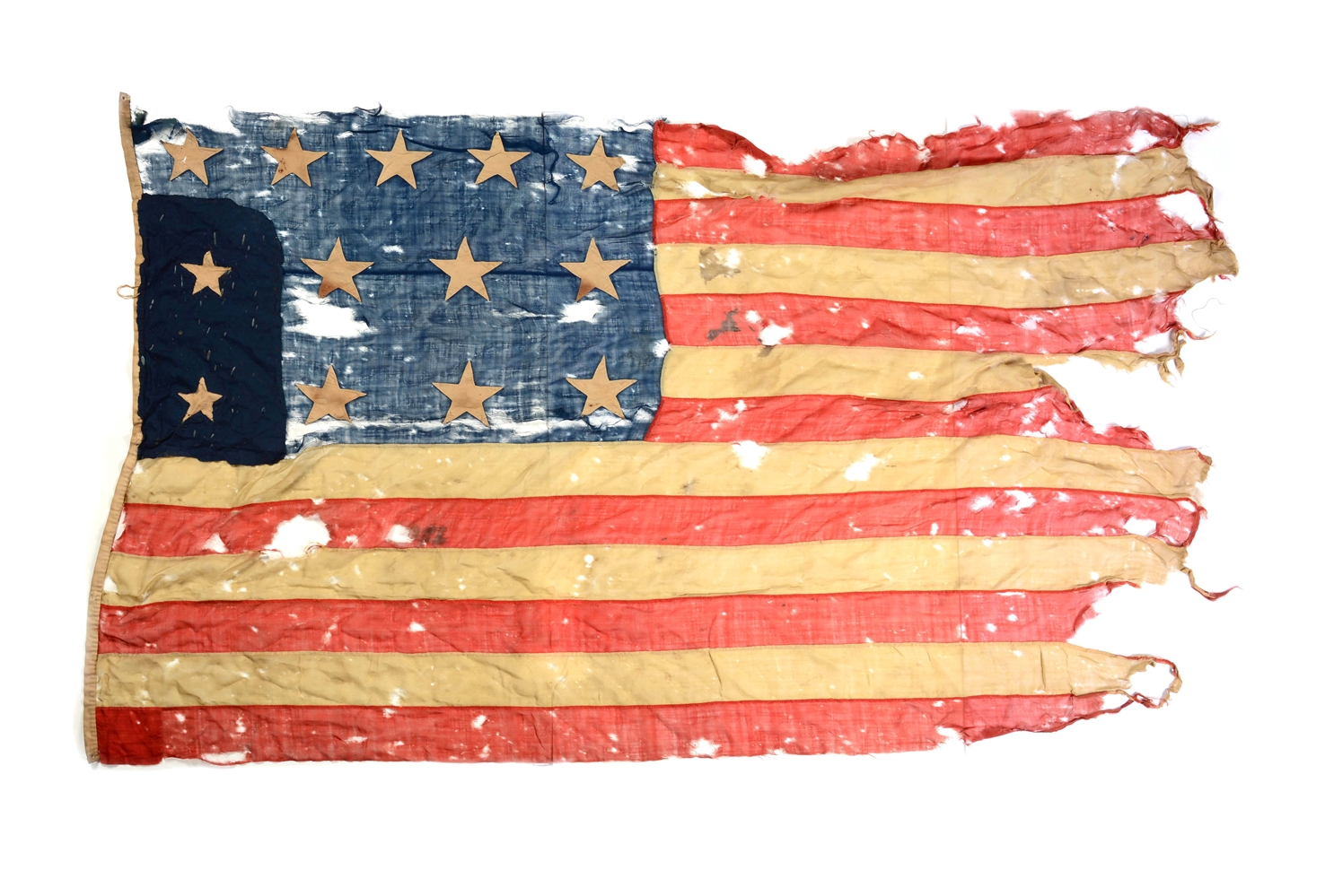 Large, 13-Star US Flag, 19th Century.