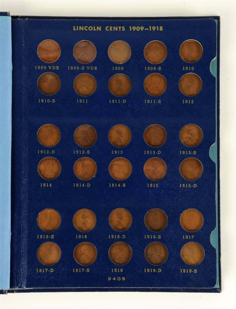 Lincoln Cents Collection.