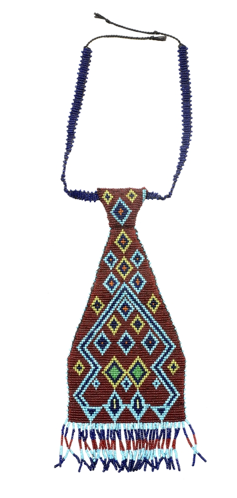 Apache Beaded Neck Tie.