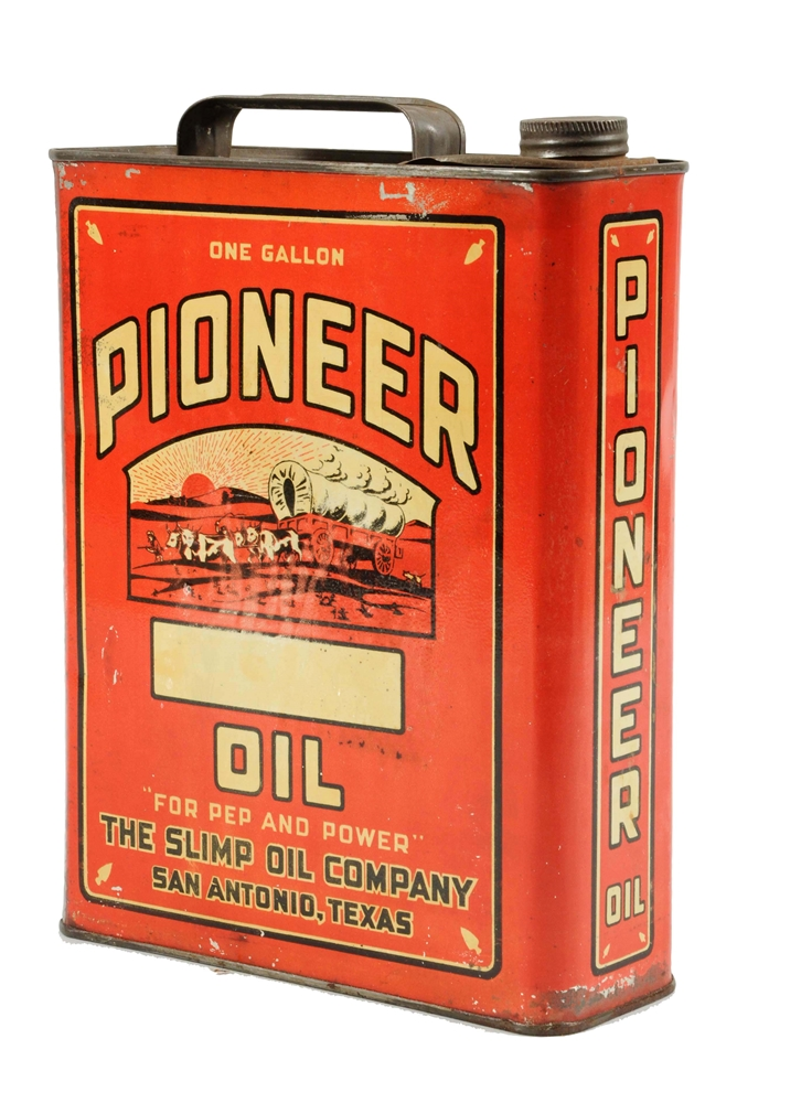 Pioneer Oil w/ Iconic Graphics One Gallon Can.