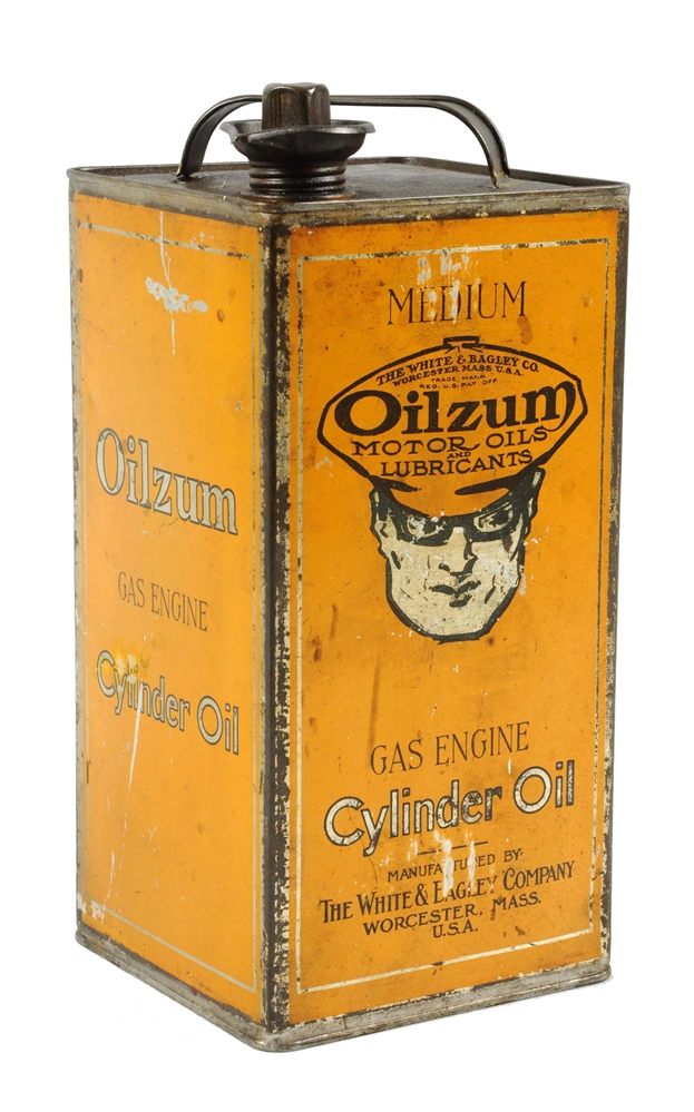 Oilzum Gas Engine Cylinder Oil One Gallon Square Can.