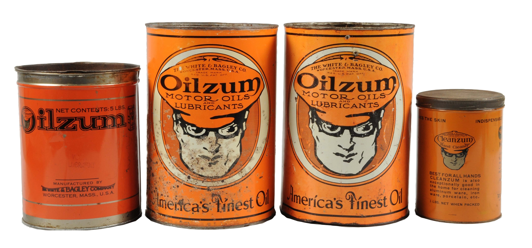 Lot of 4:  Oilzum Metal Cans.