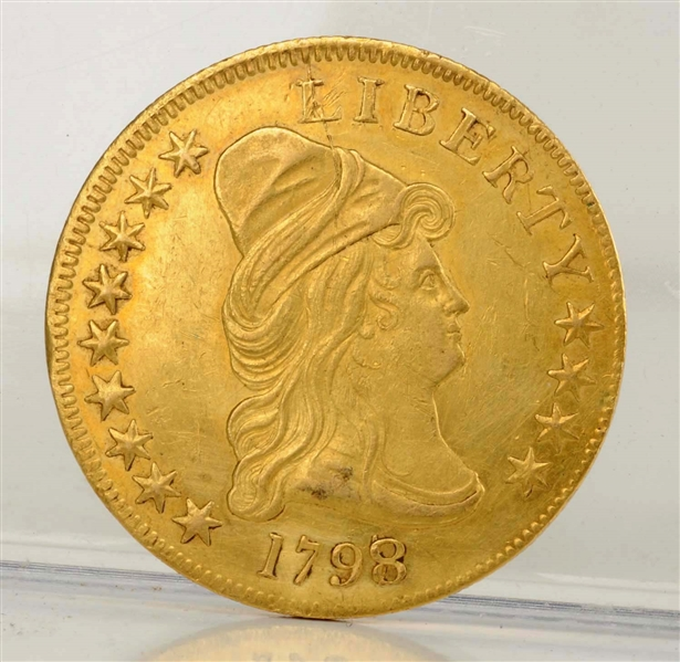 1798 8 Over 7 $10 Capped Bust Gold Coin.